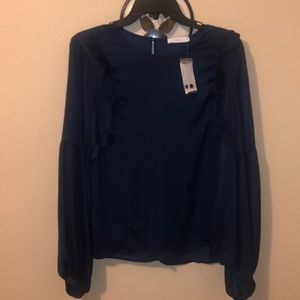 NWT navy blue blouse
